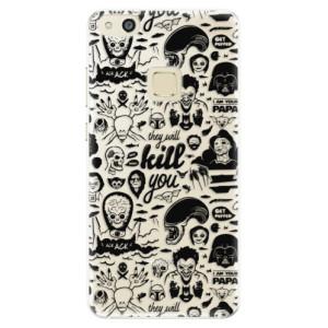 Silikonové pouzdro iSaprio (mléčně zakalené) Komiks 01 black na mobil Huawei P10 Lite