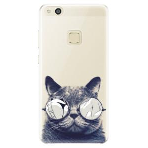 Silikonové pouzdro iSaprio (mléčně zakalené) Šílená Číča 01 na mobil Huawei P10 Lite