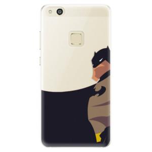 Silikonové pouzdro iSaprio (mléčně zakalené) BaT Komiks na mobil Huawei P10 Lite