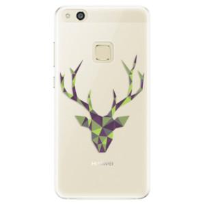 Silikonové pouzdro iSaprio (mléčně zakalené) Zelený Jelínek na mobil Huawei P10 Lite