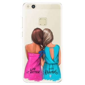 Silikonové pouzdro iSaprio (mléčně zakalené) Best Friends na mobil Huawei P10 Lite
