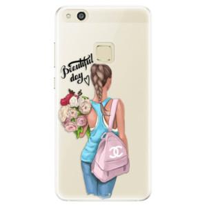 Silikonové pouzdro iSaprio (mléčně zakalené) Beautiful Day na mobil Huawei P10 Lite