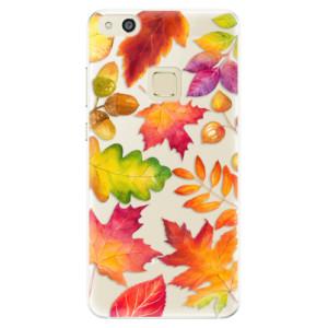 Silikonové pouzdro iSaprio (mléčně zakalené) Podzimní Lístečky na mobil Huawei P10 Lite