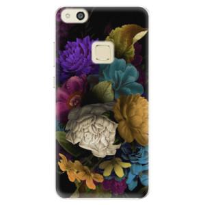 Silikonové pouzdro iSaprio (mléčně zakalené) Temné Květy na mobil Huawei P10 Lite