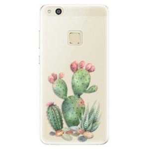 Silikonové pouzdro iSaprio (mléčně zakalené) Kaktusy 01 na mobil Huawei P10 Lite