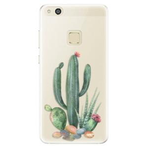 Silikonové pouzdro iSaprio (mléčně zakalené) Kaktusy 02 na mobil Huawei P10 Lite