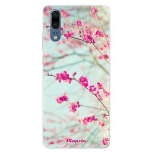 Silikonové pouzdro iSaprio (mléčně zakalené) Blossom 01 na mobil Huawei P20