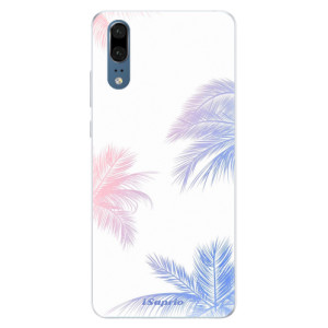 Silikonové pouzdro iSaprio (mléčně zakalené) Palmy 10 na mobil Huawei P20