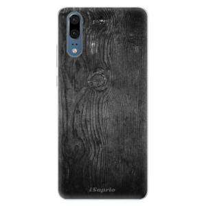 Silikonové pouzdro iSaprio (mléčně zakalené) Black Wood 13 na mobil Huawei P20