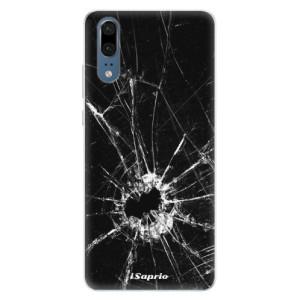 Silikonové pouzdro iSaprio (mléčně zakalené) Broken Glass 10 na mobil Huawei P20