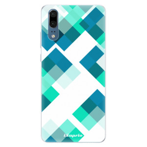 Silikonové pouzdro iSaprio (mléčně zakalené) Abstract Squares 11 na mobil Huawei P20