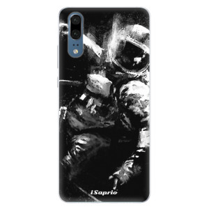 Silikonové pouzdro iSaprio (mléčně zakalené) Astronaut 02 na mobil Huawei P20