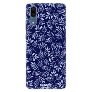 Silikonové pouzdro iSaprio (mléčně zakalené) Blue Leaves 05 na mobil Huawei P20