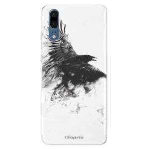 Silikonové pouzdro iSaprio (mléčně zakalené) Havran 01 na mobil Huawei P20