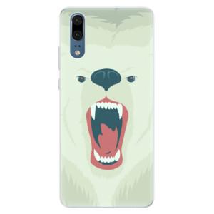 Silikonové pouzdro iSaprio (mléčně zakalené) Naštvanej Medvěd na mobil Huawei P20
