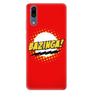 Silikonové pouzdro iSaprio (mléčně zakalené) Bazinga 01 na mobil Huawei P20