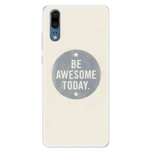 Silikonové pouzdro iSaprio (mléčně zakalené) Awesome 02 na mobil Huawei P20