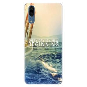 Silikonové pouzdro iSaprio (mléčně zakalené) Beginning na mobil Huawei P20