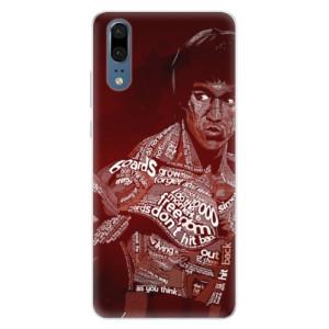 Silikonové pouzdro iSaprio (mléčně zakalené) Bruce Lee na mobil Huawei P20