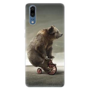 Silikonové pouzdro iSaprio (mléčně zakalené) Medvěd 01 na mobil Huawei P20