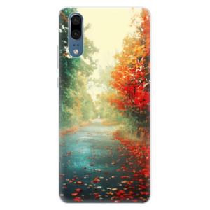 Silikonové pouzdro iSaprio (mléčně zakalené) Podzim 03 na mobil Huawei P20