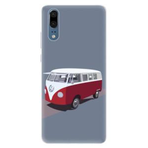 Silikonové pouzdro iSaprio (mléčně zakalené) VW Bus na mobil Huawei P20