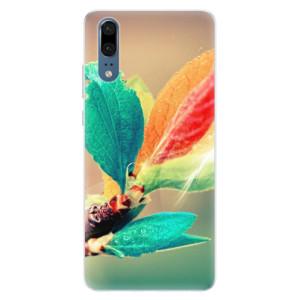 Silikonové pouzdro iSaprio (mléčně zakalené) Podzim 02 na mobil Huawei P20