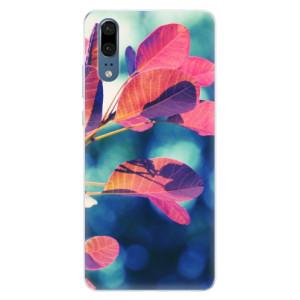 Silikonové pouzdro iSaprio (mléčně zakalené) Podzim 01 na mobil Huawei P20