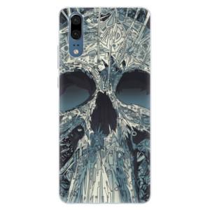 Silikonové pouzdro iSaprio (mléčně zakalené) Abstract Skull na mobil Huawei P20