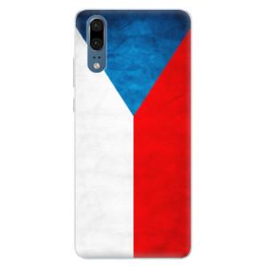 Silikonové pouzdro iSaprio (mléčně zakalené) Česká Vlajka na mobil Huawei P20