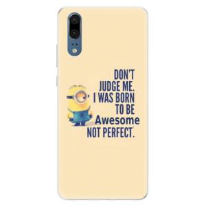 Silikonové pouzdro iSaprio (mléčně zakalené) Be Awesome na mobil Huawei P20