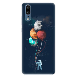 Silikonové pouzdro iSaprio (mléčně zakalené) Balónky 02 na mobil Huawei P20