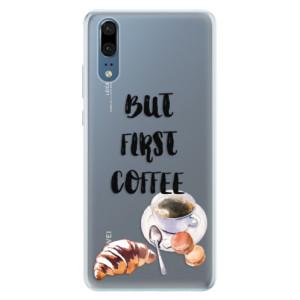 Silikonové pouzdro iSaprio (mléčně zakalené) Ranní Kávička na mobil Huawei P20 - poslední kousek za tuto cenu