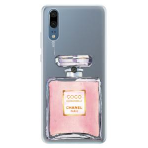 Silikonové pouzdro iSaprio (mléčně zakalené) Chanel Rose na mobil Huawei P20