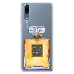 Silikonové pouzdro iSaprio (mléčně zakalené) Chanel Gold na mobil Huawei P20