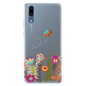 Silikonové pouzdro iSaprio (mléčně zakalené) Včelka Pája 01 na mobil Huawei P20
