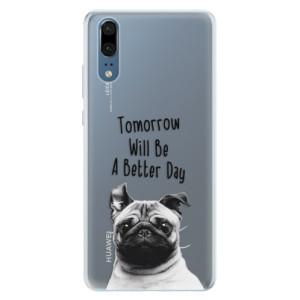 Silikonové pouzdro iSaprio (mléčně zakalené) Better Day 01 na mobil Huawei P20