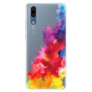 Silikonové pouzdro iSaprio (mléčně zakalené) Color Splash 01 na mobil Huawei P20