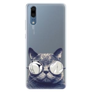 Silikonové pouzdro iSaprio (mléčně zakalené) Šílená Číča 01 na mobil Huawei P20