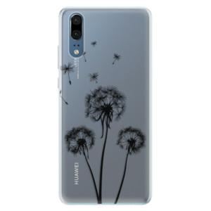 Silikonové pouzdro iSaprio (mléčně zakalené) Tři Černé Pampelišky na mobil Huawei P20