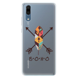 Silikonové pouzdro iSaprio (mléčně zakalené) BOHO na mobil Huawei P20