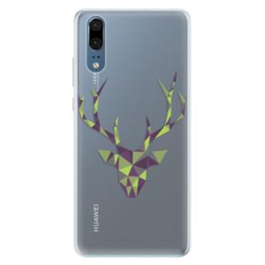 Silikonové pouzdro iSaprio (mléčně zakalené) Zelený Jelínek na mobil Huawei P20