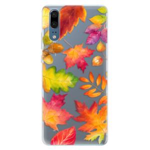 Silikonové pouzdro iSaprio (mléčně zakalené) Podzimní Lístečky na mobil Huawei P20