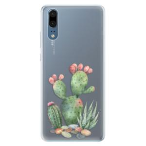 Silikonové pouzdro iSaprio (mléčně zakalené) Kaktusy 01 na mobil Huawei P20