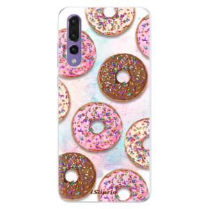 Silikonové pouzdro iSaprio (mléčně zakalené) Donutky Všude 11 na mobil Huawei P20 Pro