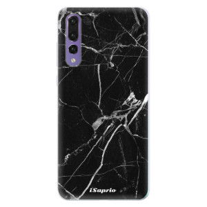 Silikonové pouzdro iSaprio (mléčně zakalené) Black Marble 18 na mobil Huawei P20 Pro