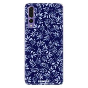 Silikonové pouzdro iSaprio (mléčně zakalené) Blue Leaves 05 na mobil Huawei P20 Pro