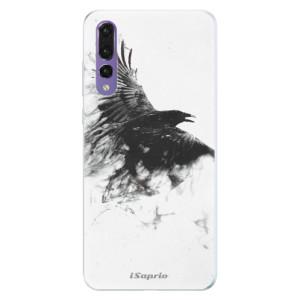 Silikonové pouzdro iSaprio (mléčně zakalené) Havran 01 na mobil Huawei P20 Pro