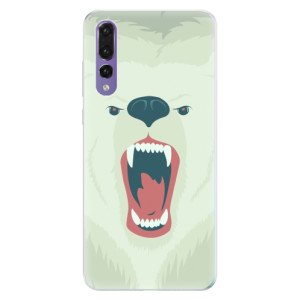 Silikonové pouzdro iSaprio (mléčně zakalené) Naštvanej Medvěd na mobil Huawei P20 Pro