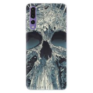 Silikonové pouzdro iSaprio (mléčně zakalené) Abstract Skull na mobil Huawei P20 Pro